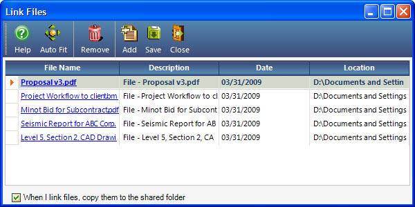 Link File Dialog