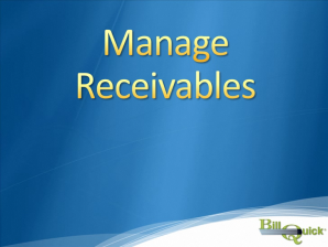 Manage Receivables Video