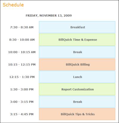BQ on tour - FL - Schedule