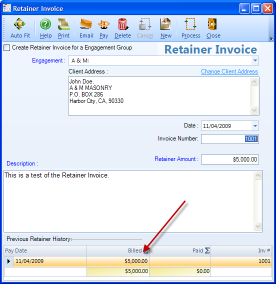 retainers for next month's work | bqe blog | integrated business, Invoice examples