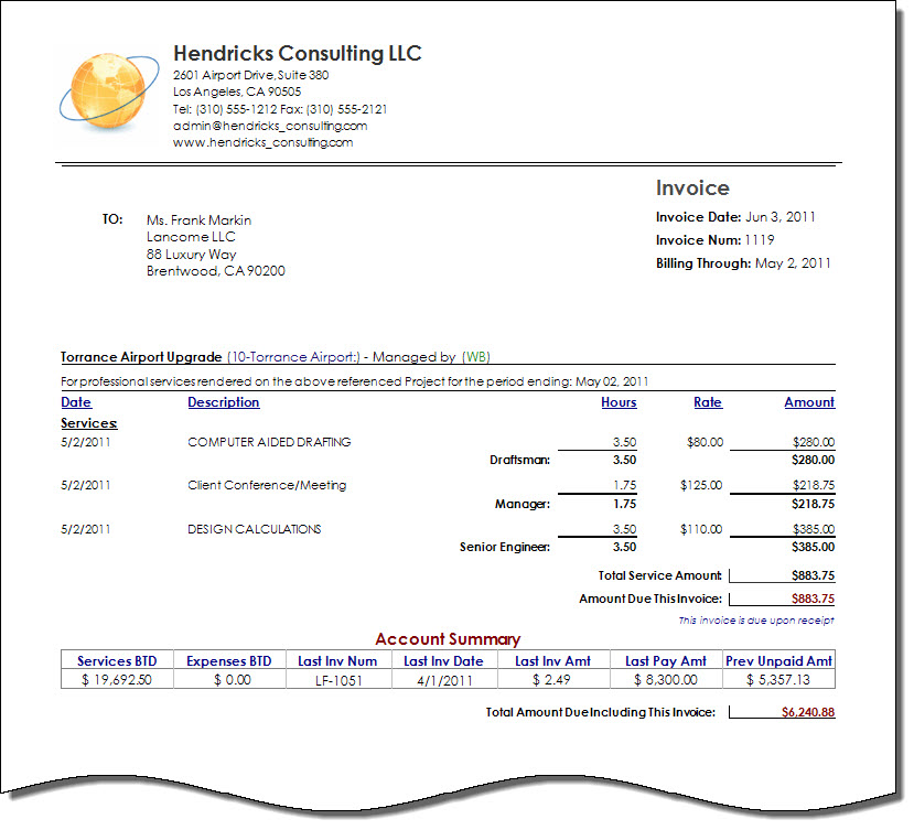 Download Architects Invoice Template | Rabitah.Net